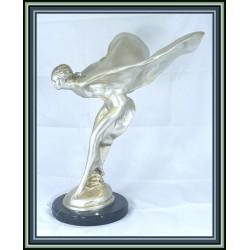 Spirit of Ecstasy Statue Figurine Bronze Deco Large