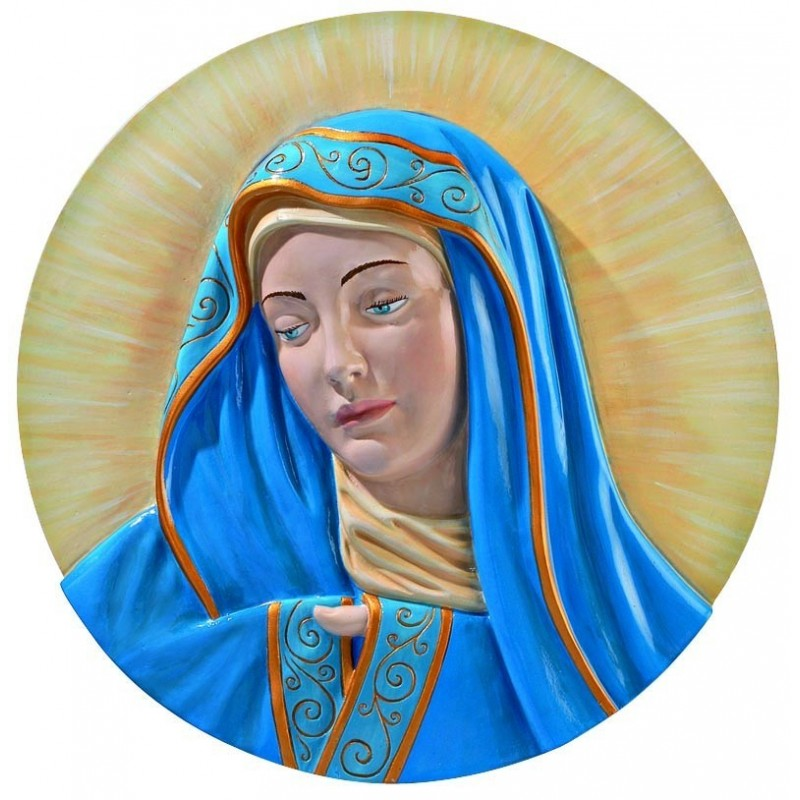 MARY PLAQUE HAND PAINTED