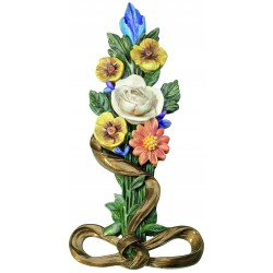 FLORAL PLAQUE HAND PAINTED