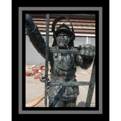 Custom Bronze Fireman Climbing Ladder