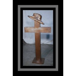 Custom Bronze Slouch Hat and Cross