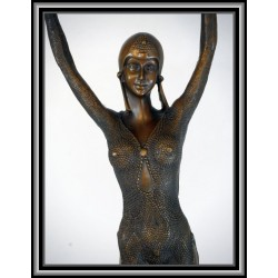 ART DECO DANCER ARMS UP STATUE