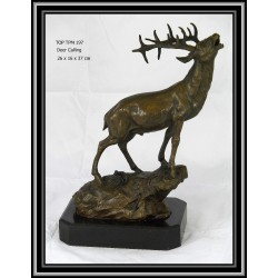 STAG ON A ROCK STATUE