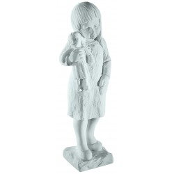 YOUNG GIRL MARBLE STATUE