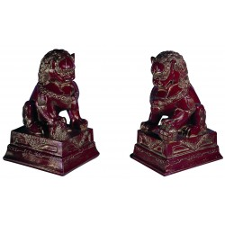 LIONS CHINESE MARBLE STATUES