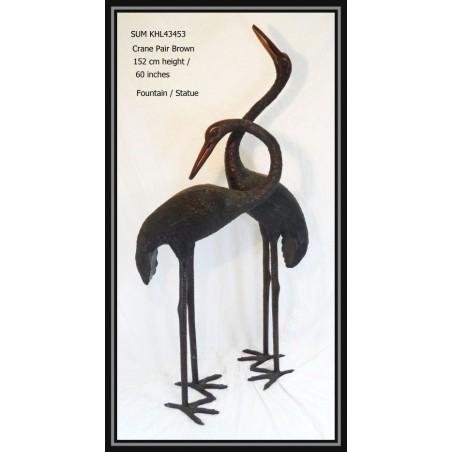 Cranes / Herons pair bronze