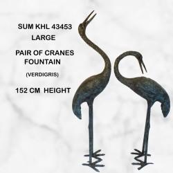 Large heron pair in Verdigris patina