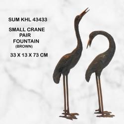 Heron pair in two tone bronze