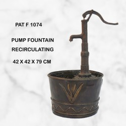 Old fashioned well pump water feature