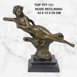 Nude reclining statue
