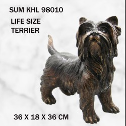 Terrier dog statue