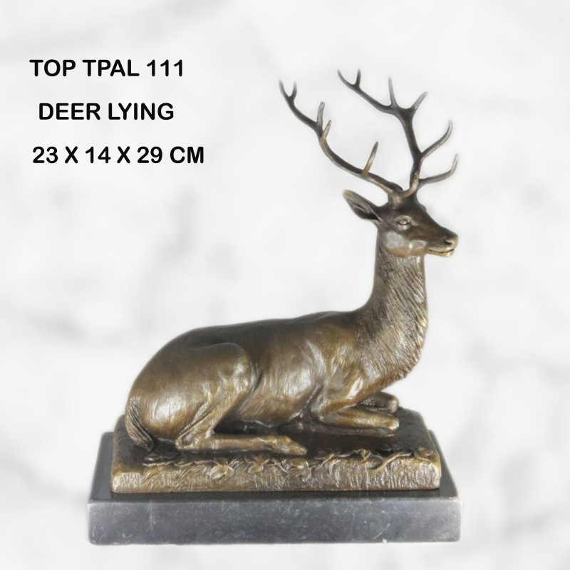 Deer lying statue