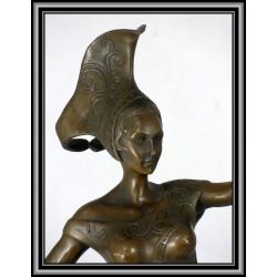 Art Deco Dancer Statue Figurine Bronze