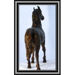 Horse Standing Statue Figurine Bronze