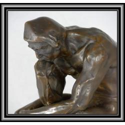 Thinker Large Rodin Statue Figurine Bronze