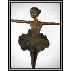 Ballet Dancer Arms Out Statue Figurine Bronze