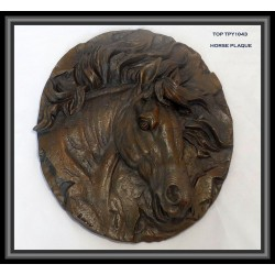 Horse Head Plaque Bronze
