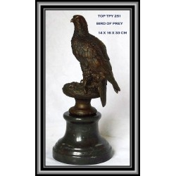 Eagle Hawk Statue Figurine Bronze