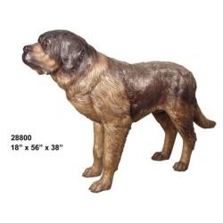 SAINT BERNARD DOG BRONZE STATUE LIFESIZE