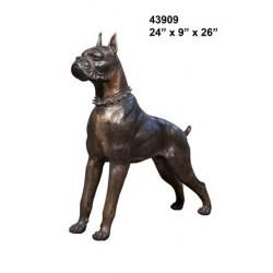 Rottweiler dog statue lifesize bronze
