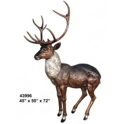 STAG DEER BRONZE STATUE LIFESIZE