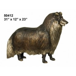 COLLIE MINIATURE SHELTY TYPE DOG STATUE