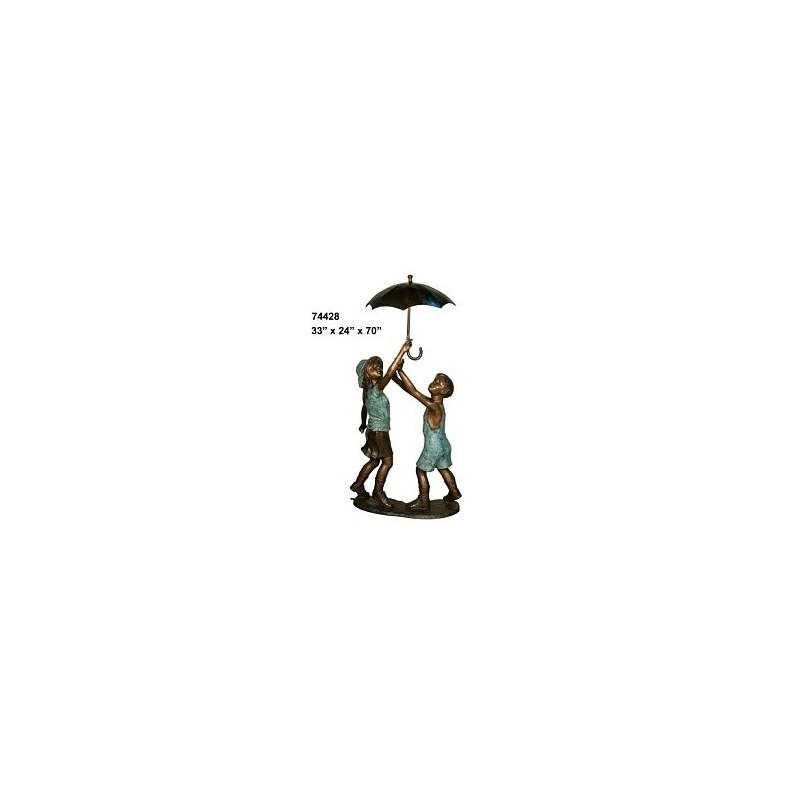 BOY AND GIRL DANCING UNDER UMBRELLA