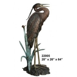 CRANE OR HERON LIFESIZE BIRD STATUE