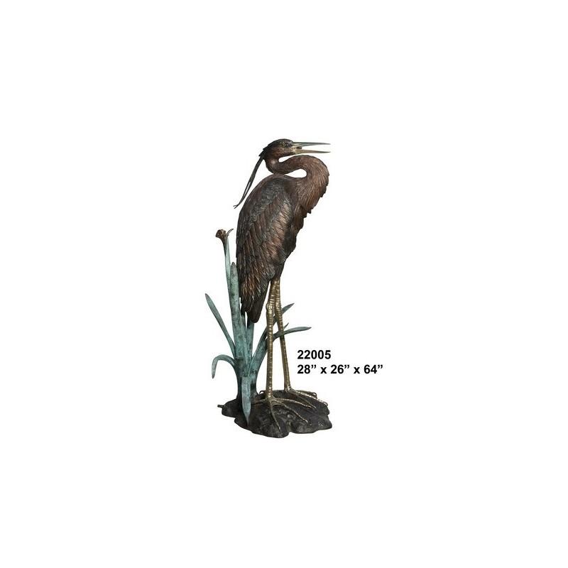 CRANE OR HERON LIFESIZE BIRD STATUE