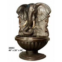 ELEPHANT WALL WATER FEATURE FOUNTAIN