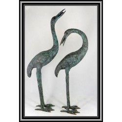 Cranes  Heron Birds Water Features Bronze Small