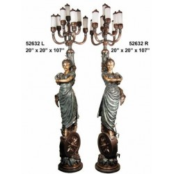 LAMPS TALL BRONZE LADIES