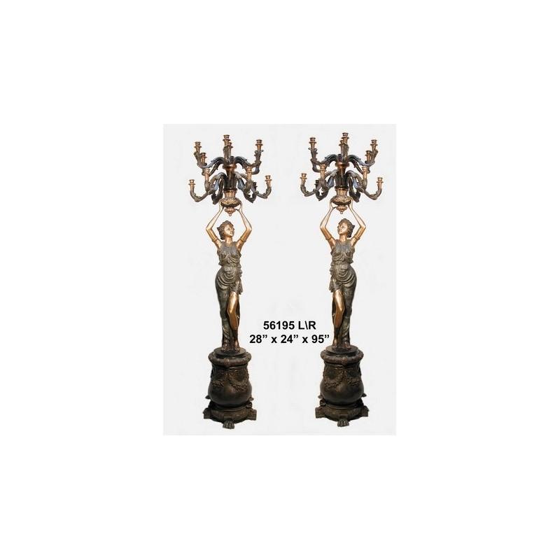 GRECIAN STYLE LAMPS LIFESIZE