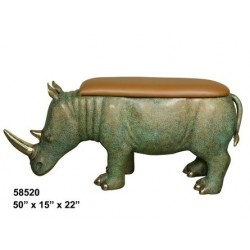 RHINO SEAT OR BENCH BRONZE