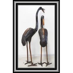 Cranes Heron Birds Water Feature Bronze Medium