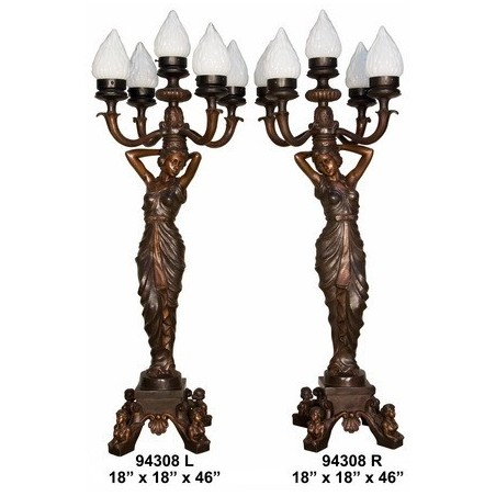 LAMPS WITH LADIES