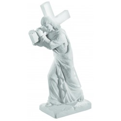 JESUS AND CROSS  STATUE 58.5CM