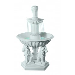 TIERED FOUNTAIN WITH LIONS 145CM