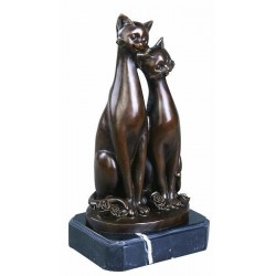 TWO CATS STATUE