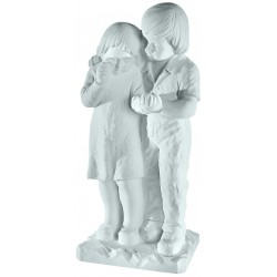BOY AND GIRL MARBLE STATUE