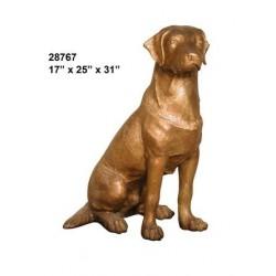 Labrador Dog Statue Bronze lifesize