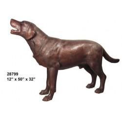LABRADOR DOG BRONZE STATUE LIFESIZE