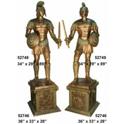 ROMAN SOLDIERS ON BASE STATUE