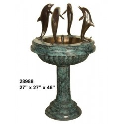 DOLPHINS DANCING ON WATER FEATURE FOUNTAIN