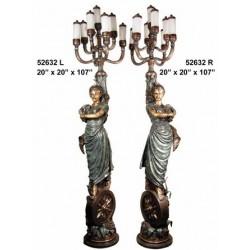 LAMPS TALL BRONZE LADIES