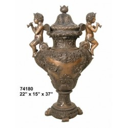 URN WITH CUPIDS